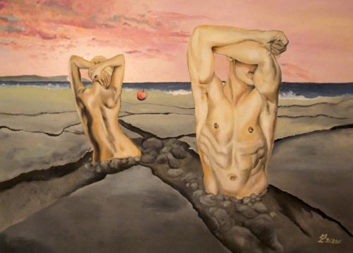 Die Verneigung des Eros, Öl/Leinwand, 70x100cm, September 2011