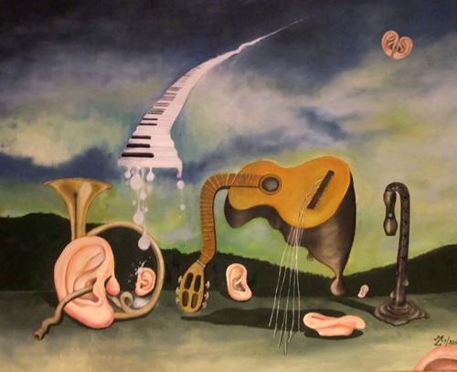 The day the music died, Öl/Leinwand, 80x100cm, Mai 2012