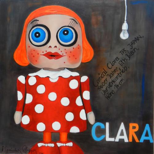 Clara, 100x100cm, Acryl, 2010