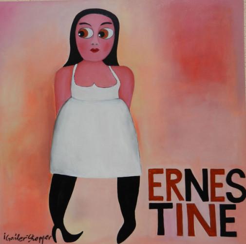 Ernestine, 100x100cm, Acryl