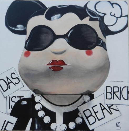 Karl Lagerfeld Puppe, 80x80cm, Acryl
