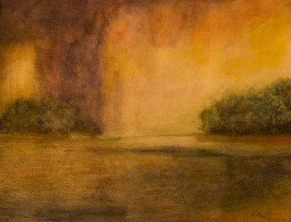 Abendstimmung, Aquarell, 2013