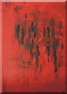 Go to Hell, 3D-Rahmen, People-Serie , Acryl/Leinwand, 60x80cm, 2003