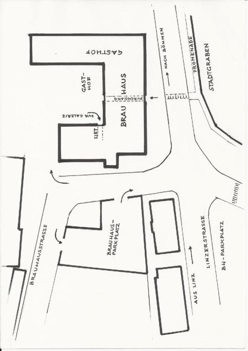 Besucherinfo - Anfahrtsplan Brauhausgalerie Freistadt