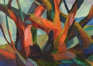 Lydia Dürr - Bäume - Öl auf Karton