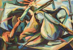 Lydia Dürr - Stilleben mit Kerze - Öl auf Leinwand